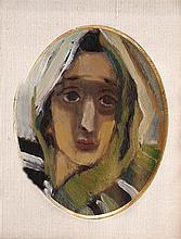 Mané Katz 1894-1962 (Ukrainian, French) Young man oil on board