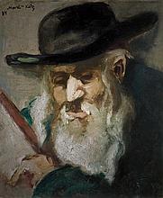 Mané Katz 1894-1962 (Ukrainian, French) Portrait of a Rabbi, 1934 oil on canvas