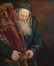 **Victoria Shasha b.1967 (British) Intense Love of Torah oil on canvas
