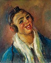 **Abraham Weinbaum 1890-1943 (Ukrainian) Portrait of a Jewish boy, c. 1920 oil on cardboard