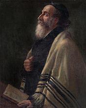Unidentified Artist early 20th century Rabbi oil on canvas