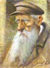 Unknown artist 20th century Rabbi oil on canvas