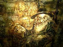 Mark Tochilkin b.1958 (Ukrainian, Israeli) The power of Shabbat oil on canvas