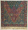 Zeev Raban 1890-1970 (Israeli) Preparatory drawing for tapestry watercolor on paper mounted on canvas, Zeev Raban, $300