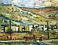Peri Rosenfeld 1912-1991 (Israeli) Galilee landscape oil on canvas