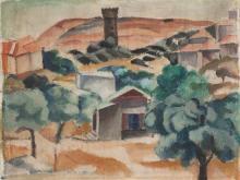 Menachem Shemi 1897-1951 (Israeli) Landscape, 1920's oil on canvas