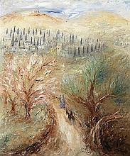 **Reuven Rubin 1893-1974 (Israeli) Road to Ein Karem, c.1937 oil on canvas