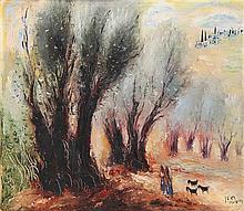 Reuven Rubin 1893-1974 (Israeli) Landscape in the Galilee, 1960 oil on canvas