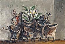 Yosl Bergner b.1920 (Israeli) Still life, 1974 oil on board