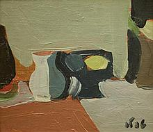 Shmuel Tepler 1918-1998 (Israeli) Still life, 1981 oil on canvasboard