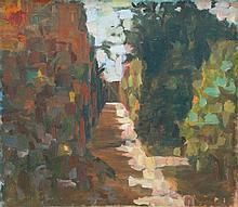 Michael Kovner b.1948 (Israeli) Alley in Jerusalem oil on canvas