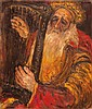 Yitzhak Frenkel Frenel 1899-1981 (Israeli) King David oil on canvas