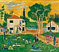 Yohanan Simon 1905-1976 (Israeli) Kibbutz, 1946 oil on canvas