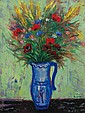 **Reuven Rubin 1893-1974 (Israeli) Flower in a vase, 1952 oil on canvas