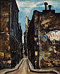 **Takanori Oguiss 1901-1986 (Japanese) Quartier du Temple, Ruelle oil on canvas
