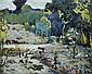 **Alexandre Altmann 1885-1950 (Ukrainian) Le jardin aux arbres oil on canvas