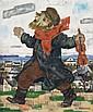 **Arthur Kolnik 1890-1972 (Lithuanian) Le musicien oil on panel