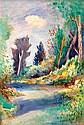 **Jean Dufy 1888-1964 (French) Paysage de Touraine oil on canvas