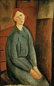 **Amadeo Modigliani 1884-1920 (Italian) Portrait de Anne Bjarne, 1919 oil on canvas