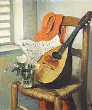 **Marcel Dyf 1899-1985 (French) La mandoline, 1960 oil on canvas