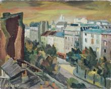 **Oswald Baer 1906-1941 (German) Berlin, 1930's oil on panel