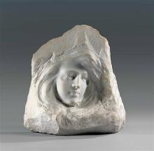 **Aimé Nicolas Morot 1850-1913 (French) Head of woman marble