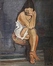George Kars 1882-1945 (Czech) Young girl, 1923 oil on canvas