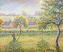 **Hugues Claude Pissarro b.1935 (French) Garden oil on canvas