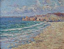 **Maximilien Luce 1858-1941 (French) Perros-Guirec oil on panel