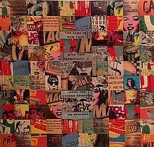 Gil Goren b.1960 (Israeli) Abstract mixed media on wood