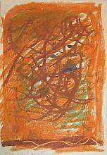 Lea Nikel 1918-2005 (Israeli) Abstract composition, 1971 pastel on paper