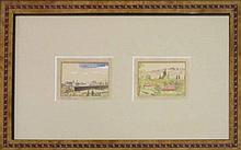A. Tavori Mishmar Haemek; Jerusalem view from Mount of Olives watercolor on paper