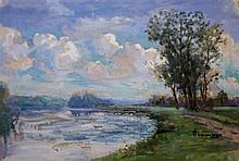 Unknown artist Landscape watercolor on paper