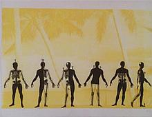 Zadok Ben-David b.1949 (Israeli) Skeletons, 2000 lithograph