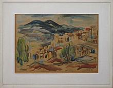 David Gilboa 1910-1976 (Israeli) Landscape watercolor on paper