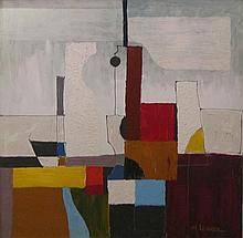 Moshe Leider b.1945 (Israeli) Abstract composition oil on canvas