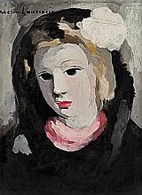 **Marie Laurencin 1883-1956 (French) Portrait of a woman oil on canvas