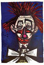 **Bernard Buffet 1928-1999 (French) Pipo, 1968 (from Mon Cirque series) color lithograph, published by Fernand Mourlot, Paris