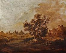 **Dutch School 19th-20th century Landscape oil on panel