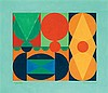 **Auguste Herbin 1882-1960 (French) Peissi, 1943 gouache on paper, Auguste Herbin, $9,000