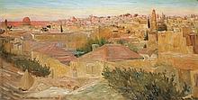 Ludwig Blum 1891-1975 (Israeli) Jerusalem, 1923 oil on canvas