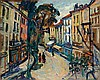 **Arbit Blatas 1908-1999 (Lithuanian) Street in Ceret oil on paper mounted on canvas, Arbit Blatas, $7,200