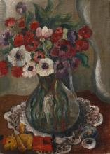 Motia Morhange 20th century (French) Vase of flowers oil on canvas