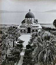 Boris Carmi 1914 - 2002 (Russian, Israeli) Church of the Beatitude, Lake Tiberias original photograph