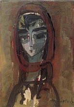 Zvi Mairovitch 1911-1974 (Israeli) The artist's wife oil on canvas
