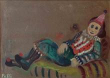 Israel Paldi 1892-1979 (Israeli) Clown oil on canvas