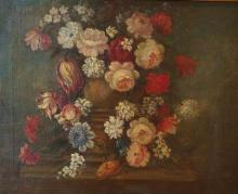 Neapolitan school 19th century Flowers, Late 19th c. oil on canvas