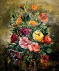**Unknown artist Bouquet de fleurs oil on canvas
