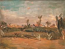Arieh Lubin 1897-1980 (Israeli) Landscape, 1931 oil on canvas