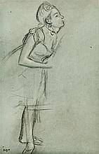 After Edgar Degas 1834-1917 (French) Ballet dancer, 1936 (from book Degas Danse Dessins by Paul Valéry) copper engraving, published...